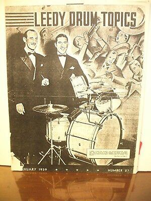 Leedy Drum Topics January 1939 PHOTOCOPY