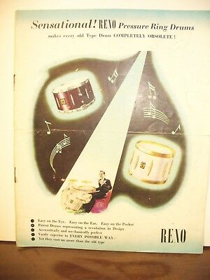 Vintage RENO Drum Catalog from England!