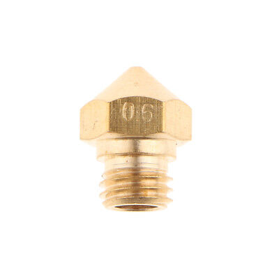 Brass Color Extruder Print Head Nozzle 0.6mm For 1.75MM MK10 3D Printer
