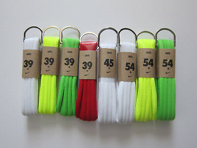 "Sale Nike Oval Shoelaces 39"" 45"" 54"" White Volt Green Red Replacement Laces"