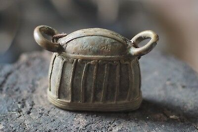 antique vintage old  solid brass cow bell from Asia Burma / Tibet