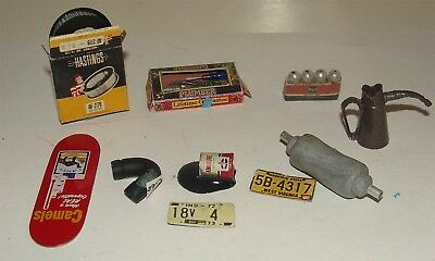 10 Assorted Accessories for the Gas Station or garage dollhouse