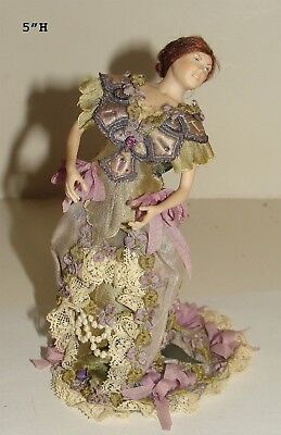 Absolutely Beautiful Porcelain Doll Dressed in Ball Gown from Estate