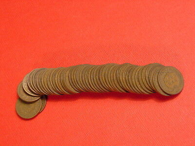 Roll Of 1904 Indian Head Cents From Large Penny Collection~All 50 1904 Coins