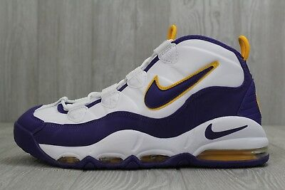04aabe0ab7 ... official 31 mens nike air max uptempo purple gold shoes 311090 103  lakers vikings 10 10.5