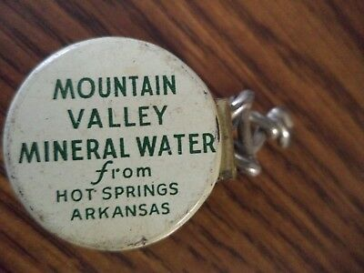 Bottle Cap Mountain Valley Mineral Water Hot Springs Arkansas with side release