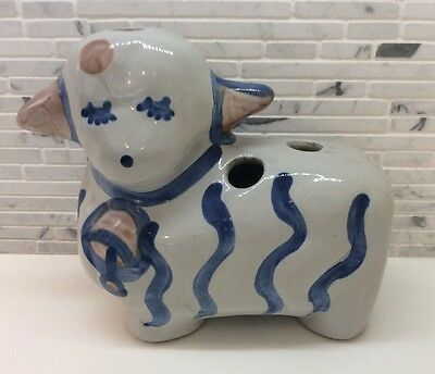MA Hadley Stoneware Pottery Sheep Lamb Toothbrush Flower Pen Holder Vase