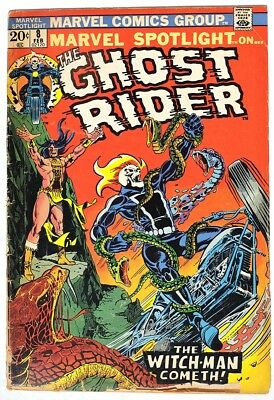 S960. MARVEL SPOTLIGHT #8 by Marvel (1973) Early Appearance of GHOST RIDER `