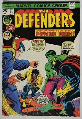 S955. THE DEFENDERS #17 by Marvel 4.5 VG+ (1974) 1st Meeting with LUKE CAGE `
