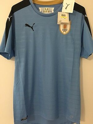 PUMA MEN S URUGUAY World Cup 18 19 Home Jersey 100% Authentic BNWT ... 71860aca2