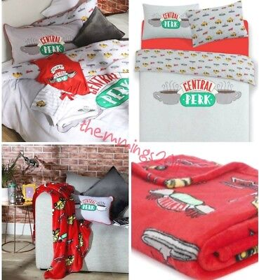 Official Friends TV Show Central Perk  Duvet Cover Set Or Cushion Or Throw BNWT