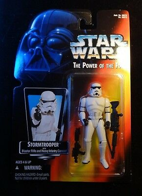 """1995 Star Wars """"The Power of the Force"""" Stormtrooper figurine Kenner"""