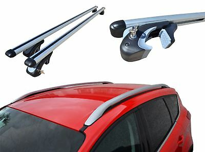 To Fit 2012 - 2016 Ford Kuga Roof Rack Rails + Locking Cross Bars + Load Stops