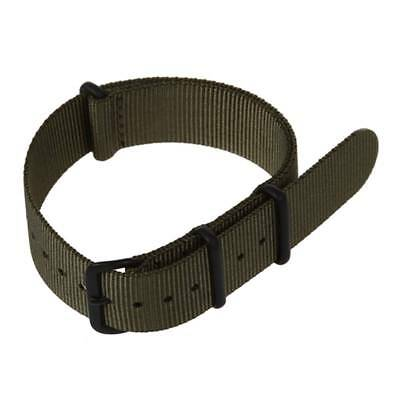 5X(20mm Army Green Nylon Fabric Outdoor Sport Watch Band Strap Fits TIMEX L4U1)