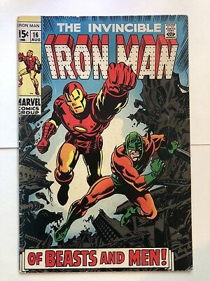 Iron Man #16, Marvel 1969 Vol 1, VG/FN Condition
