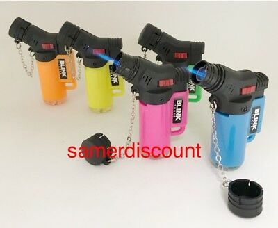 5 Pack Blink Torch Color 45 Degree Angle Jet Flame Lighter Refillable,CLR VARY