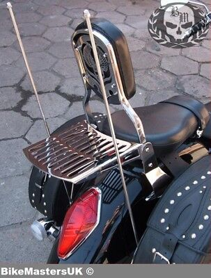 Suzuki Vl1500 Lc Intruder (1998-2004) Sissy Bar Passenger Backrest+Luggage Rack!