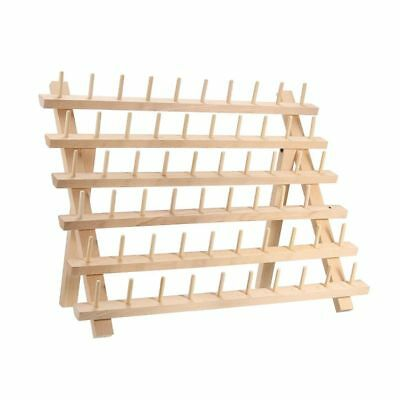 60 Spool Wooden Thread Rack and Organizer for Sewing Quilting Embroidery R5N2