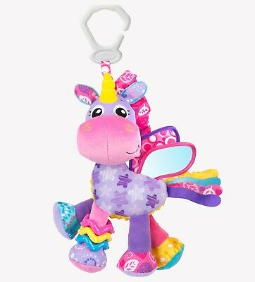 New Playgro Activity Friend Stella Unicorn Rattle Crinkle Click Clack Toy 0m+