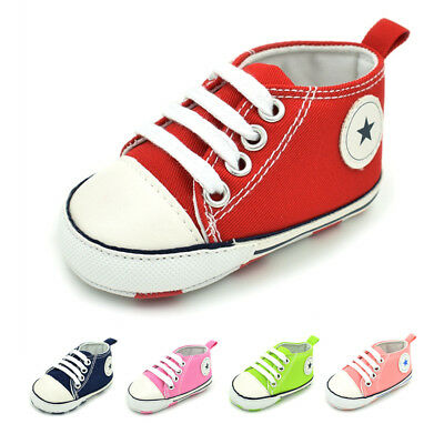 Newborn High Top Sneakers Baby Boys Girls Soft Sole No-slip Sports Crib Shoes