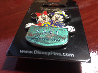 Disney Pin Mickey and Minnie Disney Cruise Line  Port Adventures  New  on Card