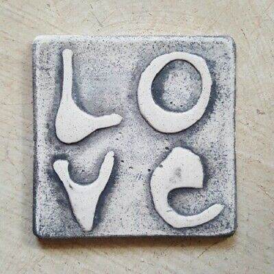 Mosaic Tile Insert - LOVE - 60x60mm ~ Mosaic Inserts, Art, Craft Supplies