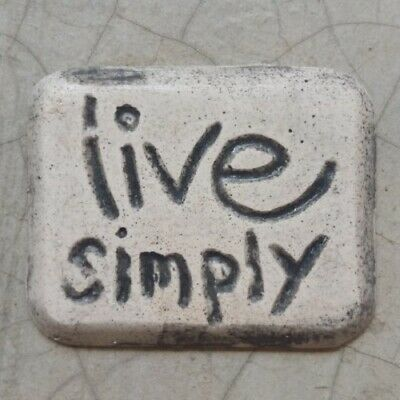 Mosaic Tile Insert - LIVE SIMPLY- 30x40mm ~ Mosaic Inserts, Art, Craft Supplies