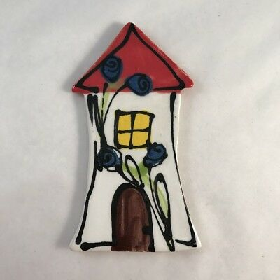 WHIMSICAL CERAMIC HOUSE - White - 100 x 55mm ~ Mosaic Inserts, Art, Craft Sup...