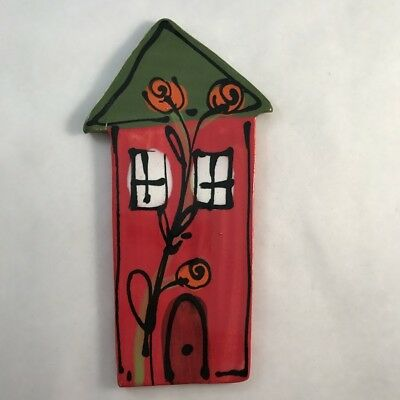 CERAMIC HOUSE - Red - 130 x 70mm ~ Mosaic Inserts, Art, Craft Supplies