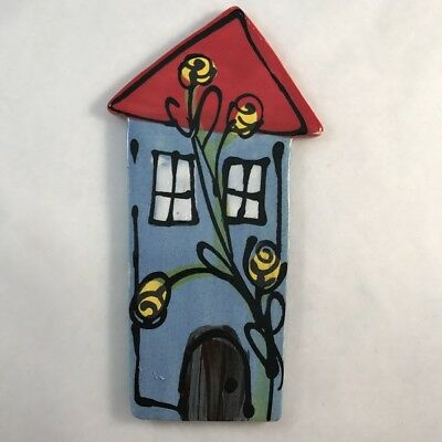CERAMIC HOUSE - Blue - 130 x 70mm ~ Mosaic Inserts, Art, Craft Supplies