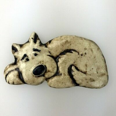 CERAMIC DOG - resting ~ Mosaic Inserts, Art, Craft Supplies