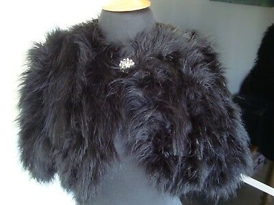 River Island Black Marabou Feather Shrug One Size