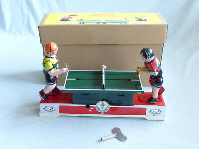 Red China MS 358 Playing Ping-Pong Blech Spielzeug Tin Toy 80er Jahre Ovp
