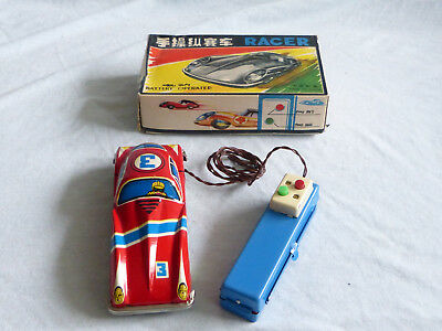 Red China ME 742 Racer Blech Auto Spielzeug Tin Toy Car Friction 70er Jahre