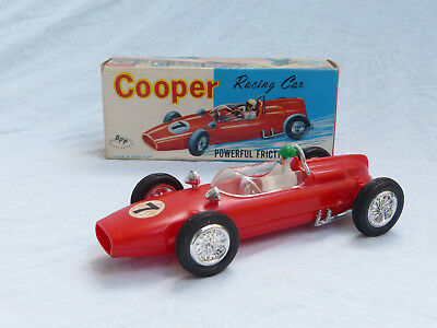 Cooper Racing Car 60er Jahre Spielzeug in Ovp 15cm BPP Hong Kong Plastic Zee Toy