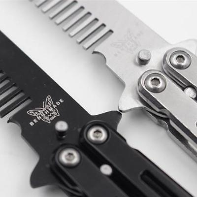 Butterfly Hair Comb Knife Practice Training Stainless Steel Metal_DE