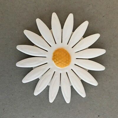 65mm CERAMIC DAISY FLOWER - White ~ Mosaic Inserts, Art, Craft Supplies