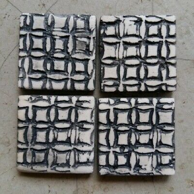 Mosaic Tiles - TARTAN PATTERN - x4 ~ Mosaic Inserts, Art, Craft Supplies
