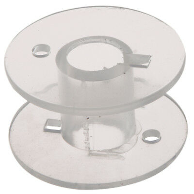 3X(25 Clear Plastic Sewing Machine Bobbins Fits Singer Brother Janome ToyotS3J3)