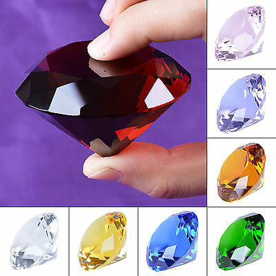 LONGWIN Colorful Crystal Diamond Paperweight 60mm Wedding Decor Healing Gifts