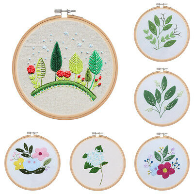 6'' 15cm Bamboo Hoop Ring Round Cross Stitch Sewing Hand Tool for Embroidery