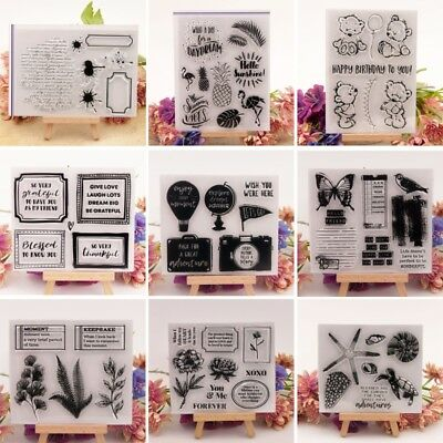 Silicone Clear Stamp Cling Seal For Scrapbook Embossing Album Decor Craft DIY