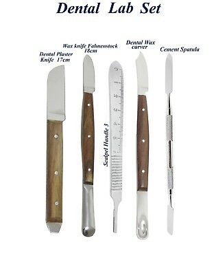 Dental Laboratory Modelling Plaster Knife Wax Fahenstock Carving Instruments set