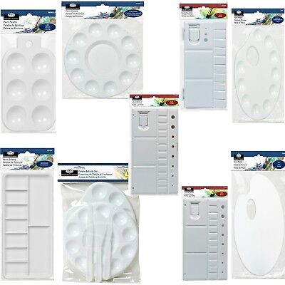 Palette - Artist Paint Mixing Plastic Palettes Trays - Round Oval Kidney Folding