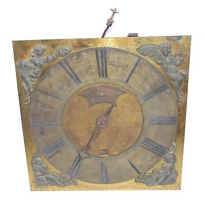 Early Brass Dial & Movement For Longcase Grandfather Clock WILLIAM BARKER WIGAN