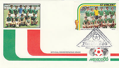 (33044) St Vincent FDC Football World Cup Mexico 1986
