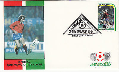 (33048) St Vincent FDC - Football World Cup 1986 - Spain v Scotland