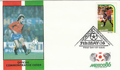 (33058) St Vincent FDC - Football World Cup 1986 - Spain v France