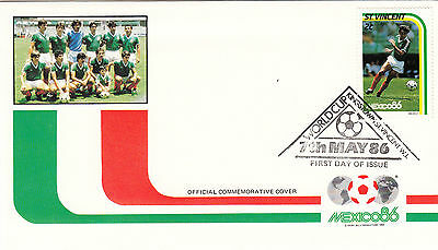(33055) St Vincent FDC - Football World Cup 1986 - Mexico #2