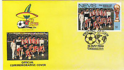 (33075) Nevis FDC - Football World Cup 1986 - Paraguay